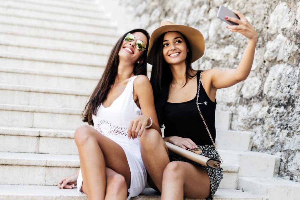 Das perfekte Selfie: Beispielpose