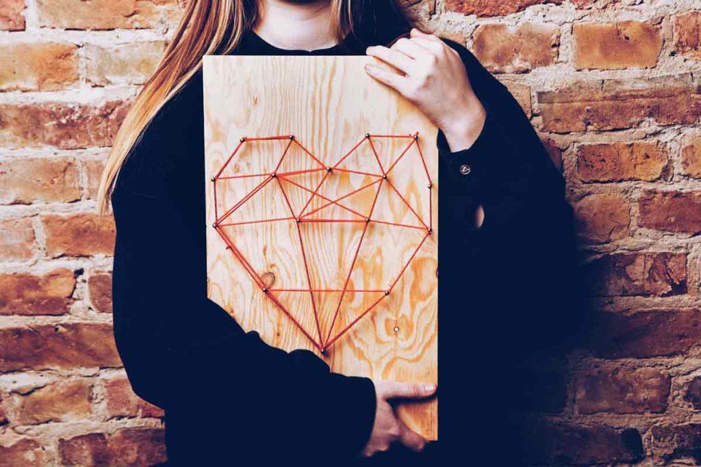 DIY Herz als String Design