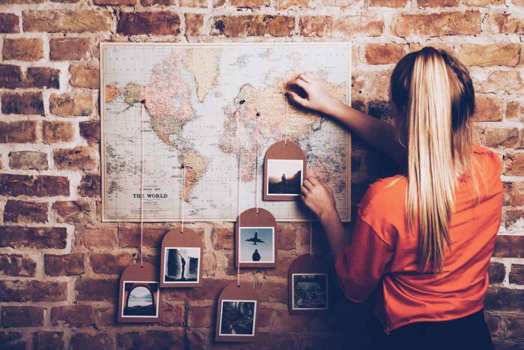 Weltkarte mit Pins - DIY
