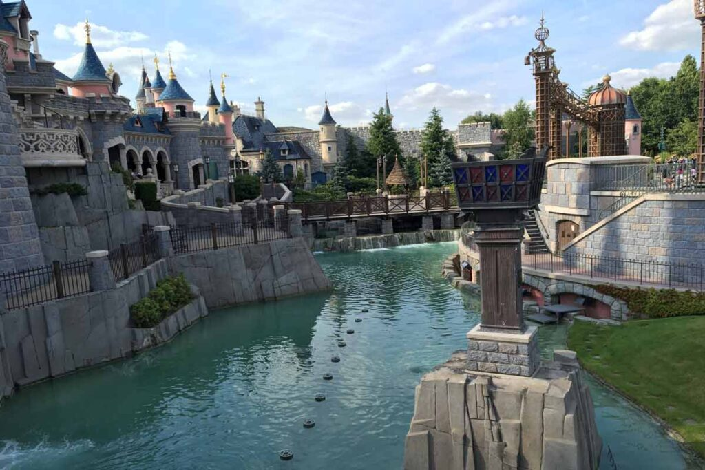A castle in Disneyland Paris shows off its magic