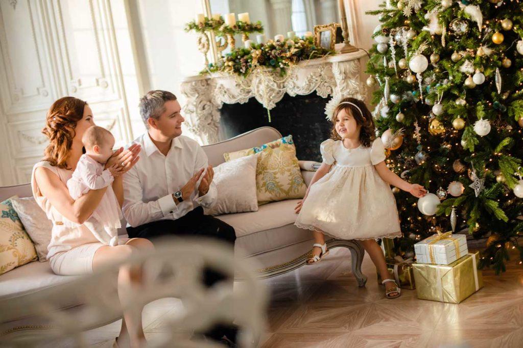 Familienfoto zu Weihnachten - 5 Tipps