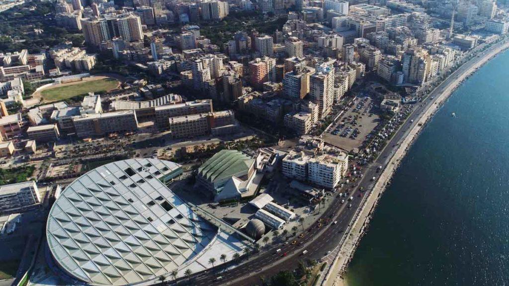 Bibliotheca Alexandrina aus der Vogelperspektive