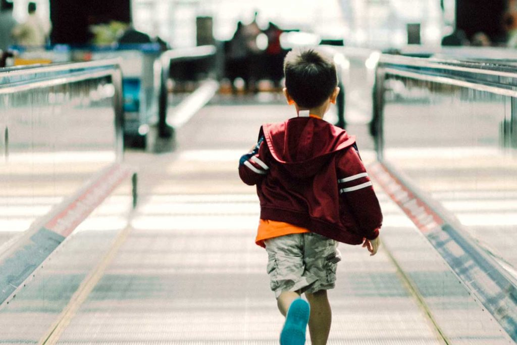 Little guy who runs in the airport