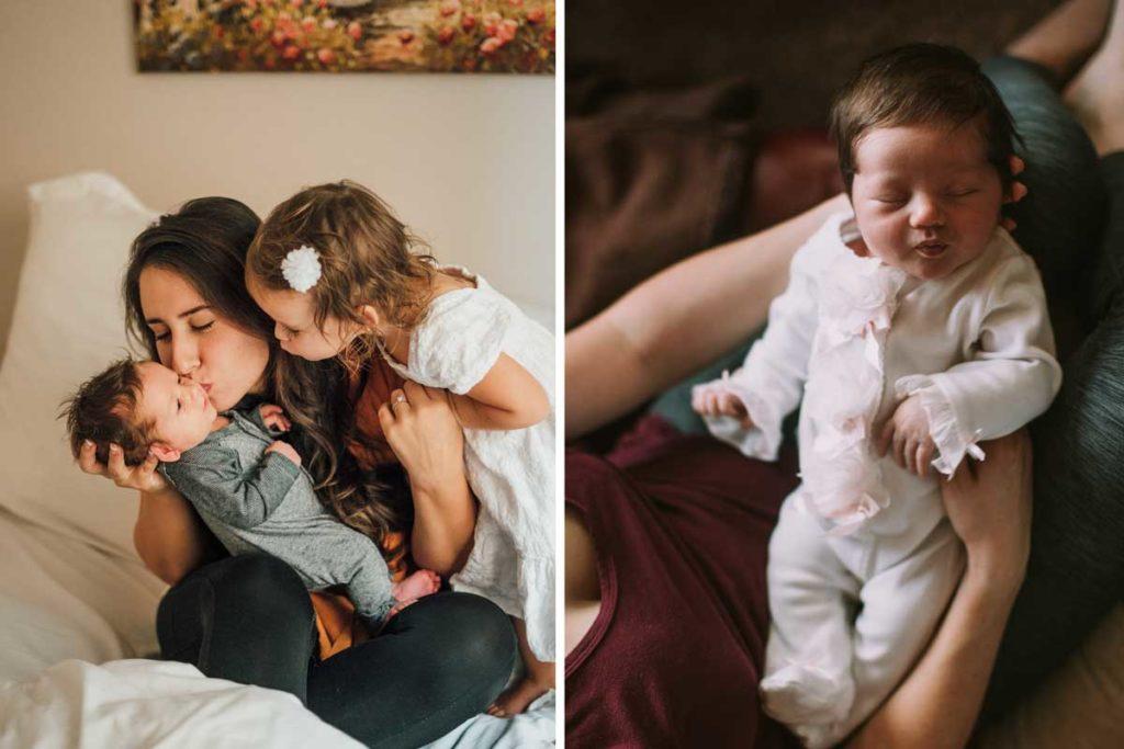 Zwei Mütter mit Baby im Arm