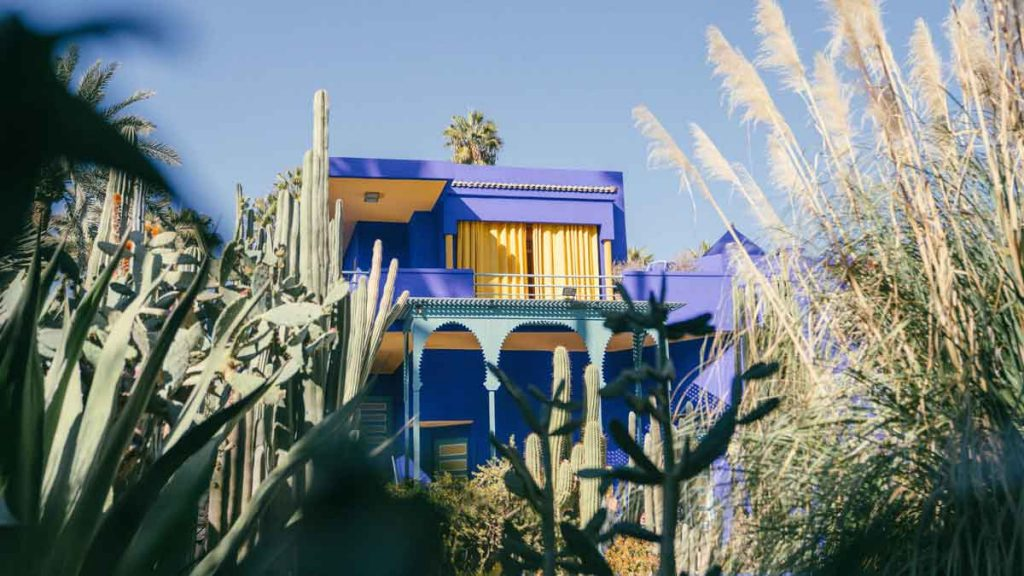 The botanical garden Jardin Majorelle in Marrakech