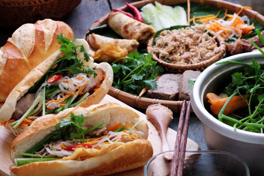 Banh mi as a traditional vietnamese dish