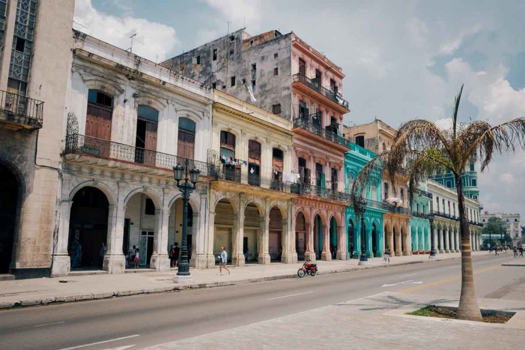 Colorful typical house facade in Havana