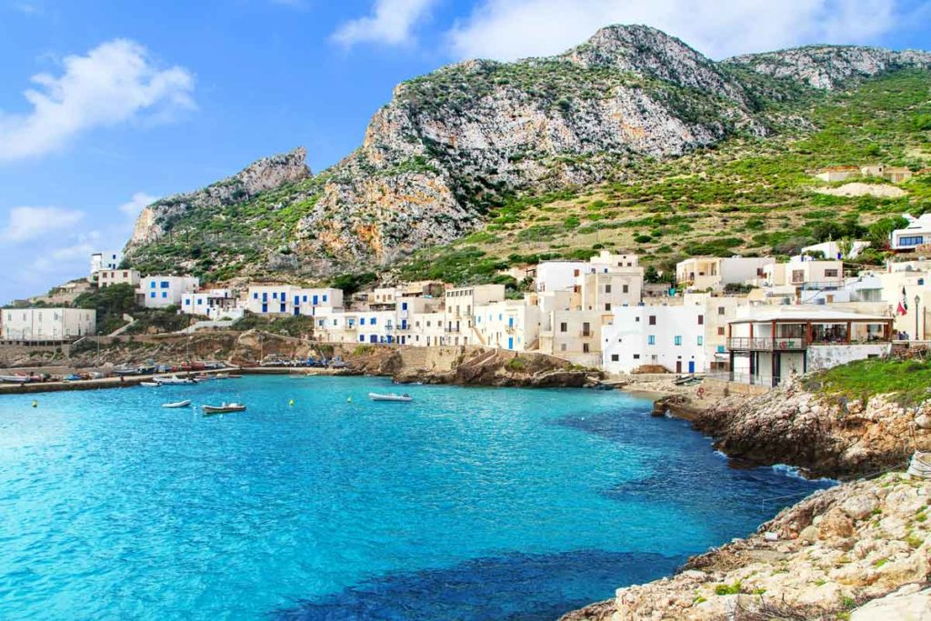 Bay with view on Levanzo, Egadi Islands