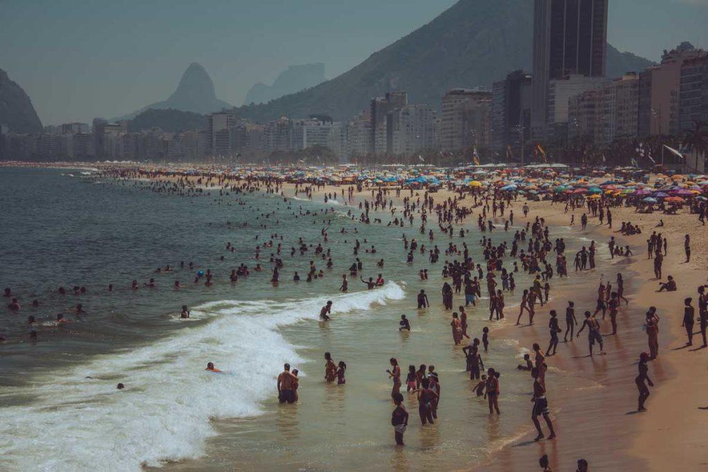 Famous beach Copacabana in Rio de Janeiro as a must-visit place