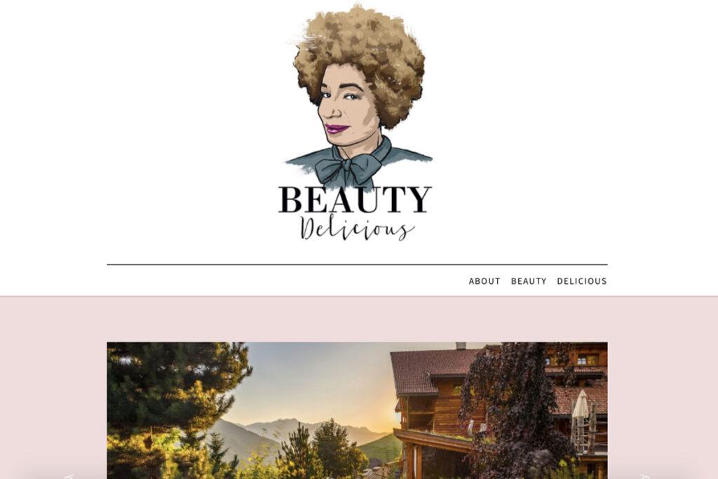 Homepage von einer der top inspirierende Blogs