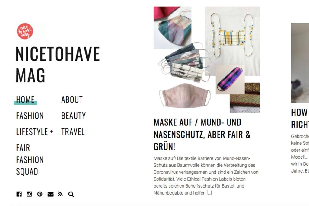 Homepage von Nicetohave Mag