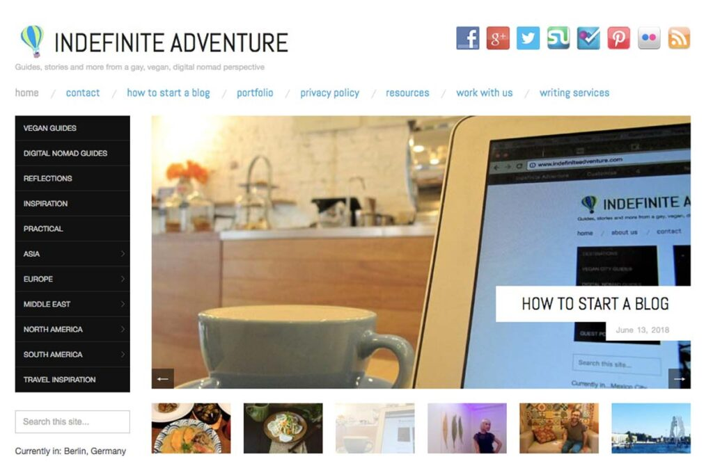Homepage of Indefinite Adventure