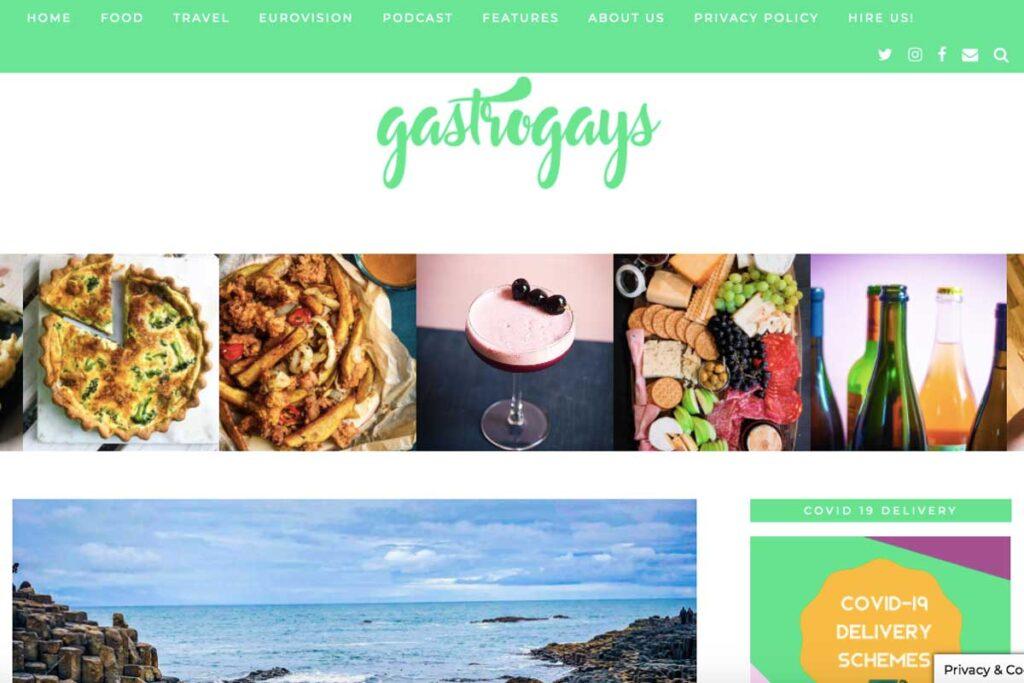 Homepage von der LGBTQ Reiseblog Gastro Gays