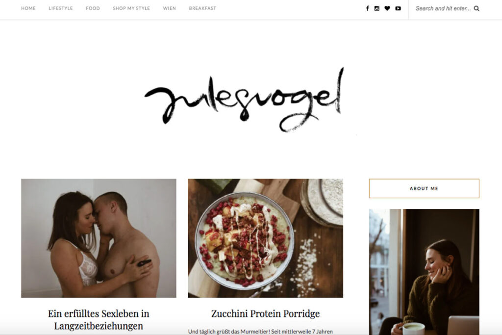 Homepage von Julesvogel