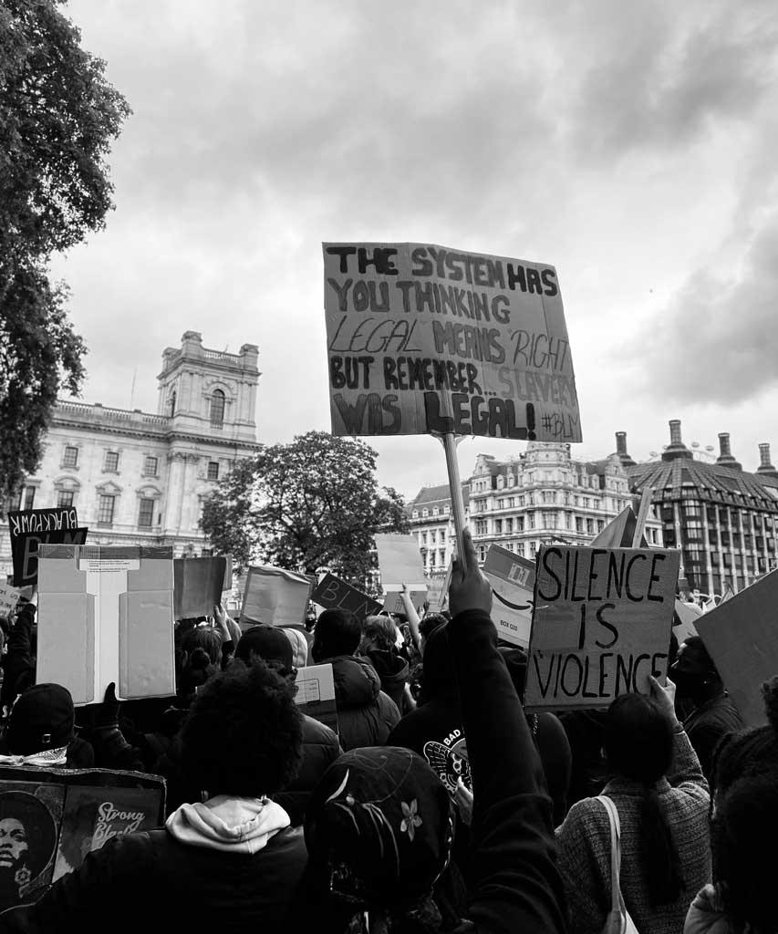 Die Protesten von Black Lives Matter in London