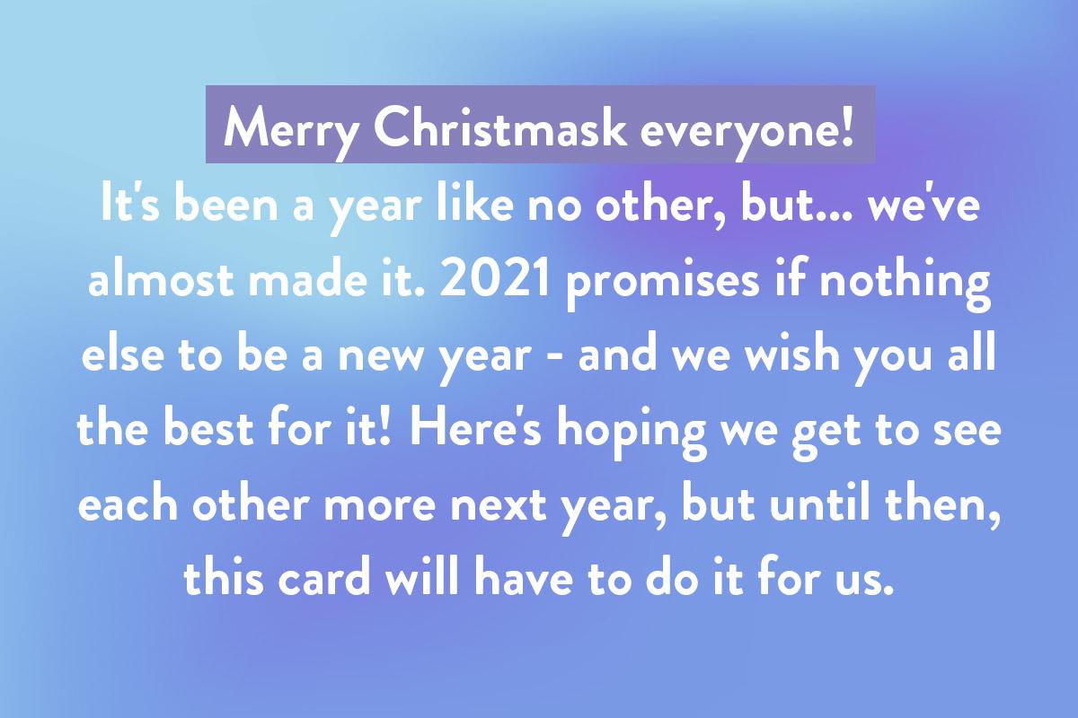 Christmas quotes template for a Covid Coronavirus Christmas