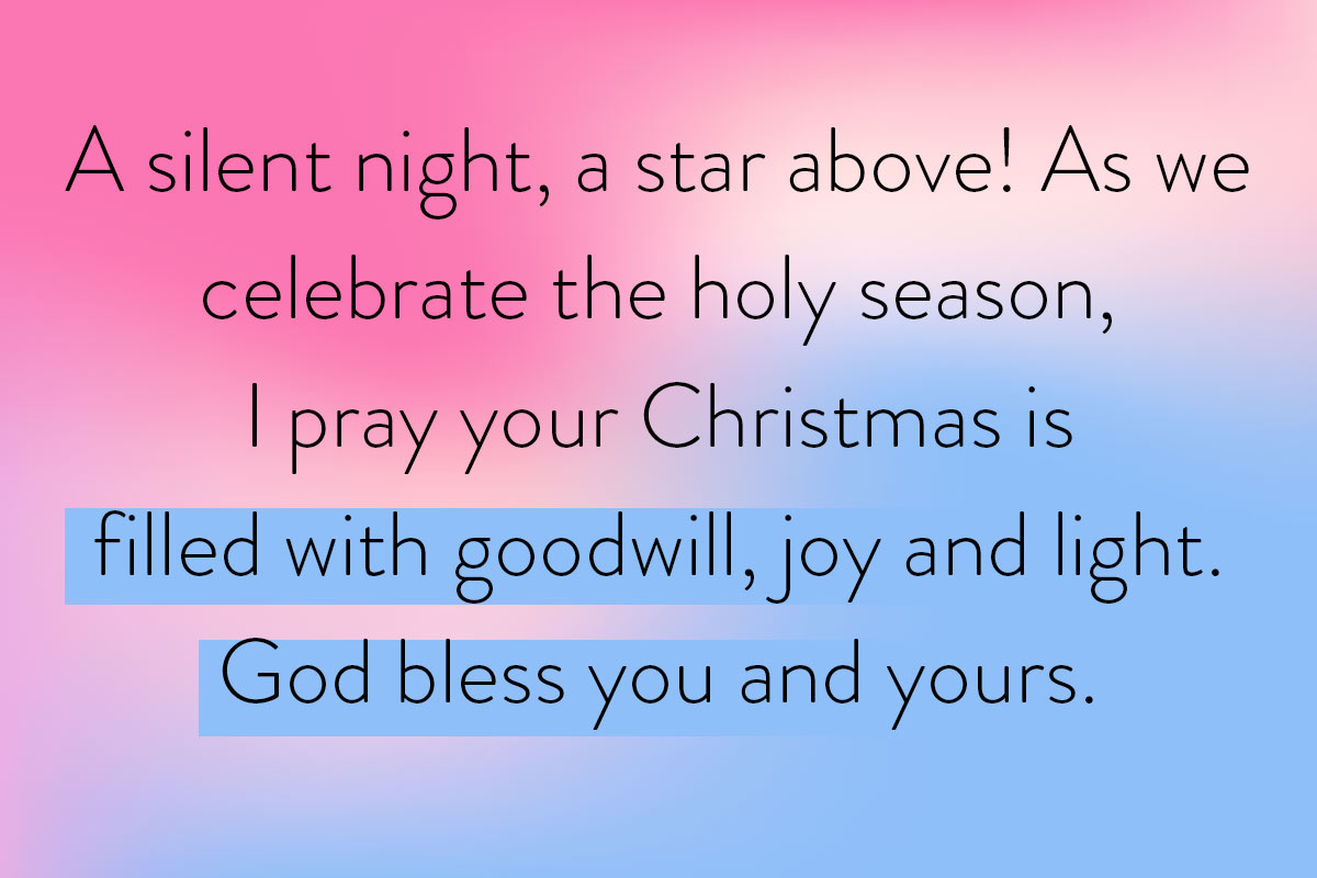 True meaning of Christmas expressed in this religious Christmas wishes idea