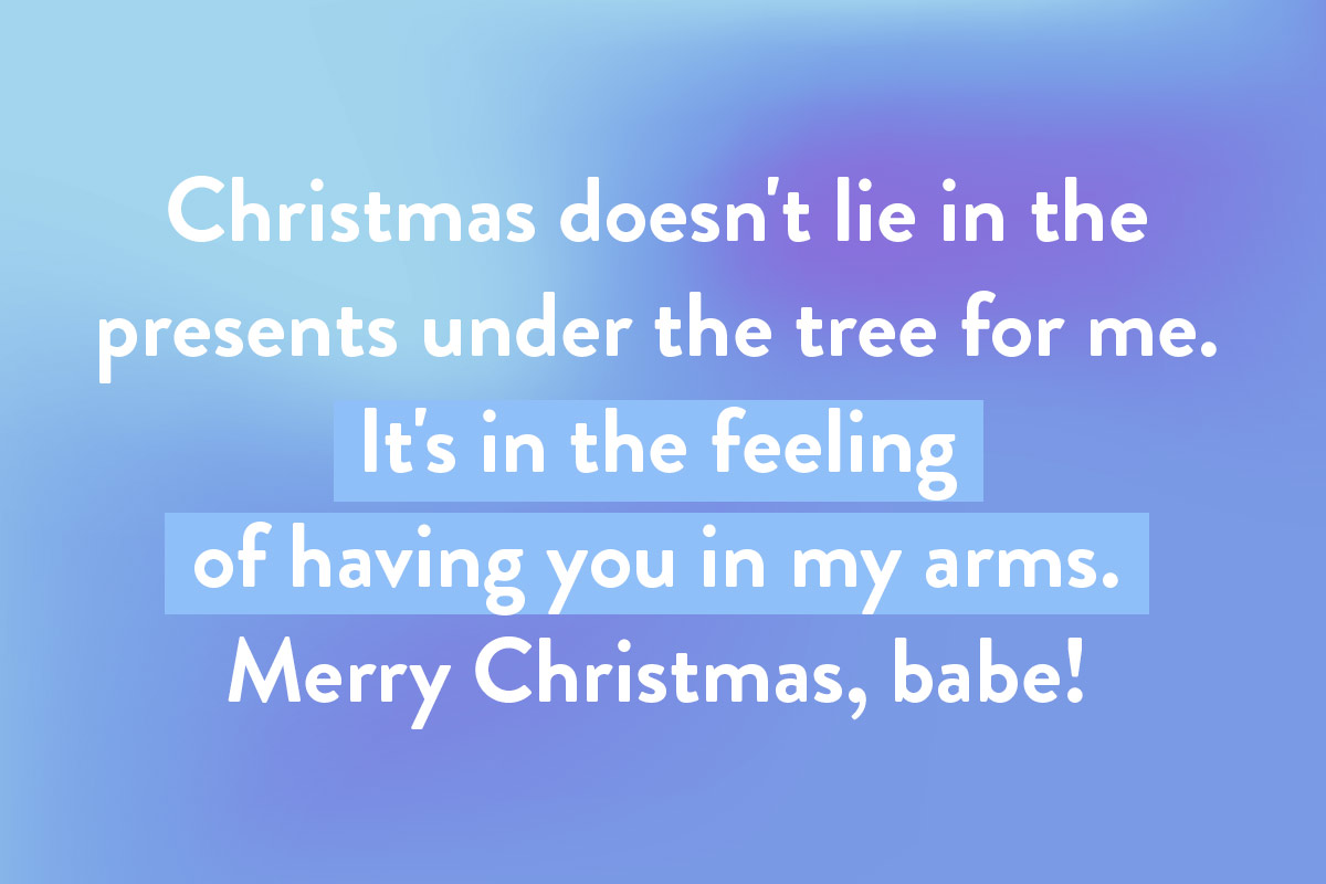 Christmas wishes for you partner and other half