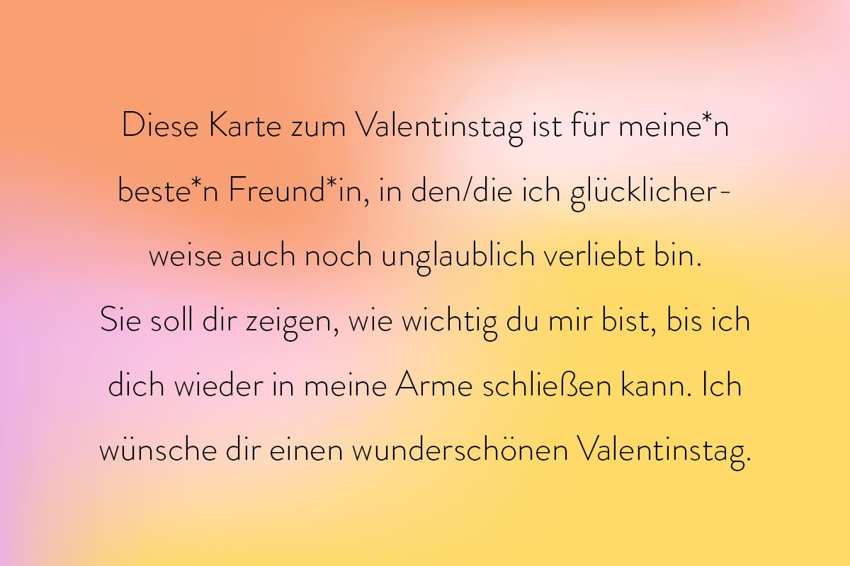Grüße für die/den Beste Freund*in zum Valentinstag