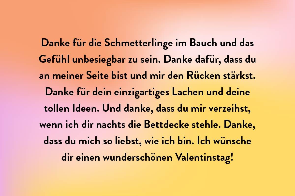 Danke Valentinskarte
