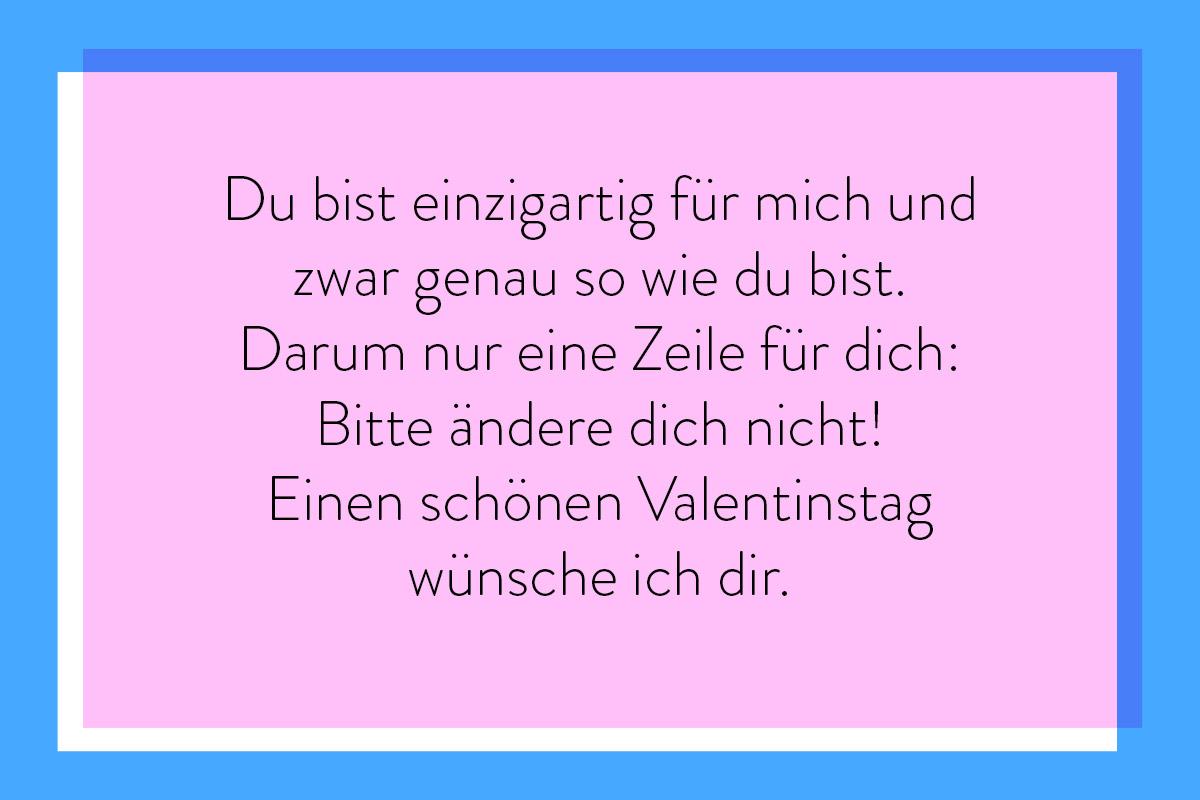 Grüße zum Valentinstag an deine Person