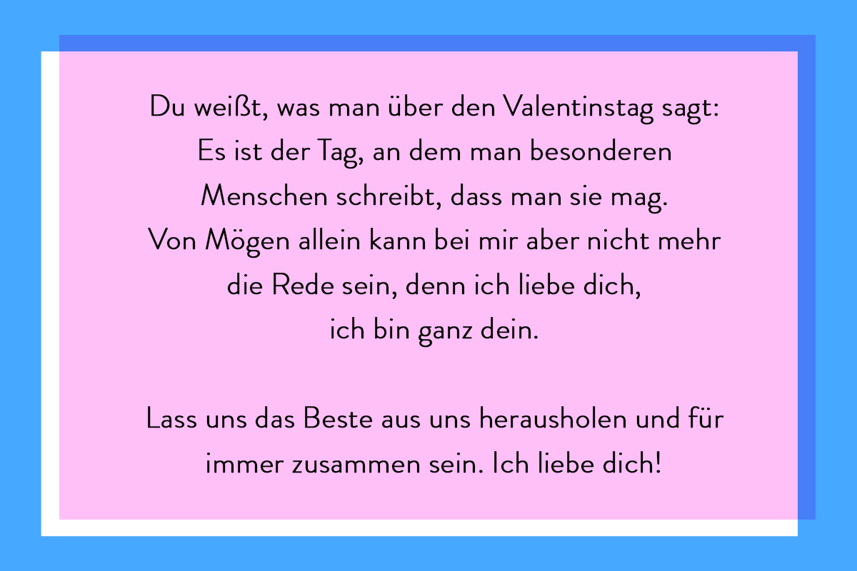 Idee für Valentinskarte schreiben