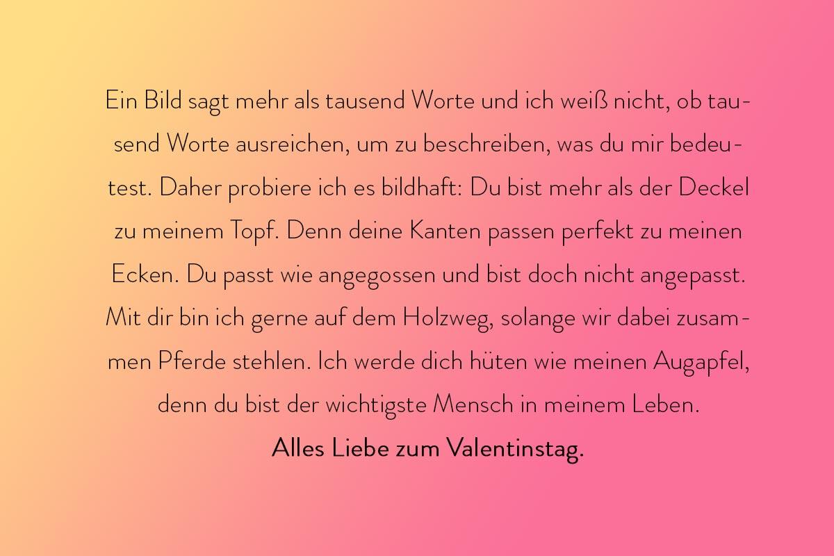 Grüße zum Valentinstag zum Thema Redensarten