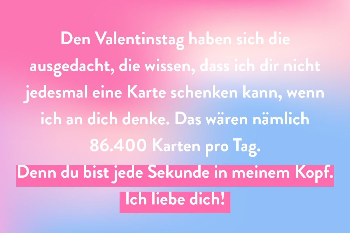 Idee zum Thema 'Sekunden' für deine Valentinstag Spruch