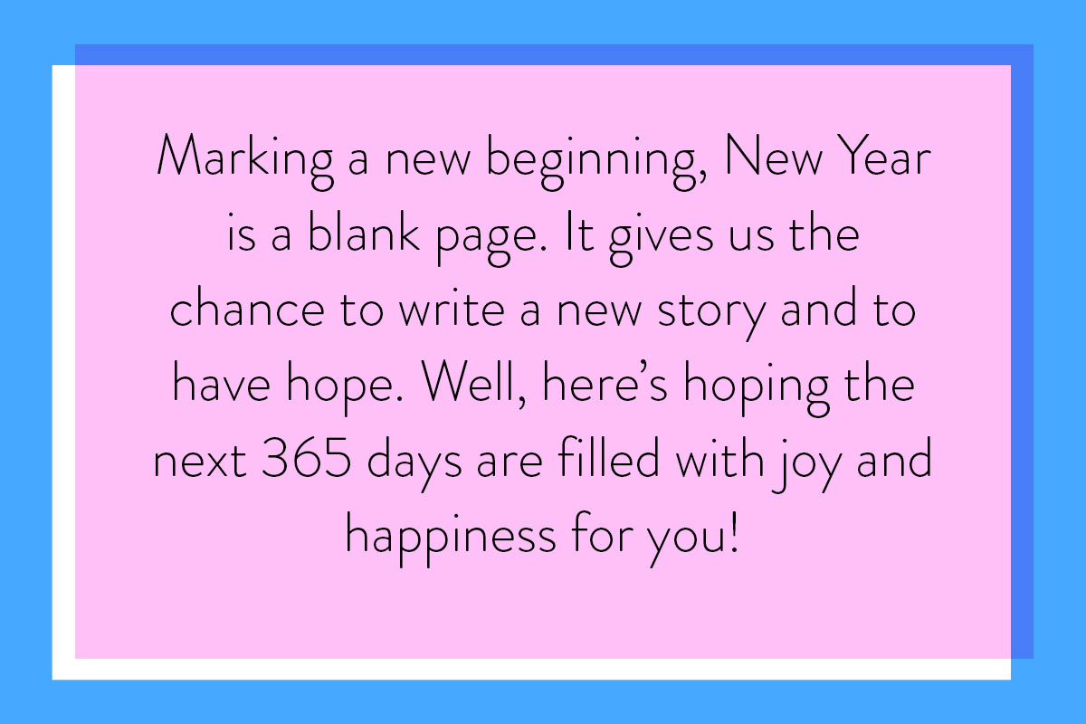 A positive quote for Happy New Year wishes for friends and family going through hard times