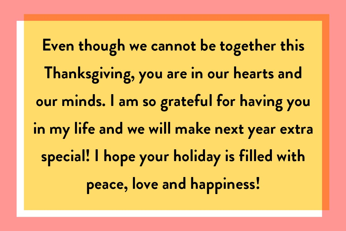 Happy Thanksgiving quotes ideal for greetings from a distance
