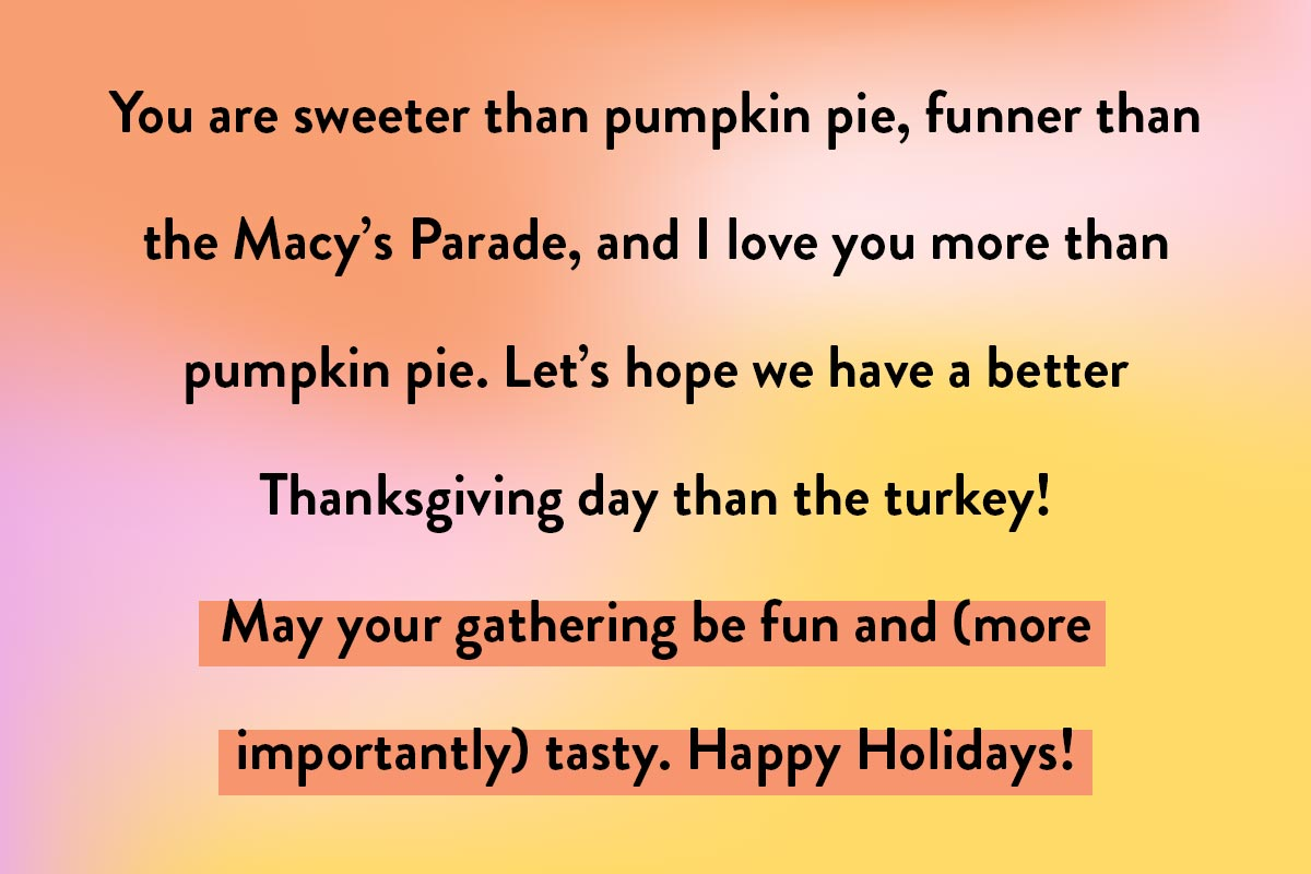 A humorous template for sending Happy Thanksgiving quotes or greetings