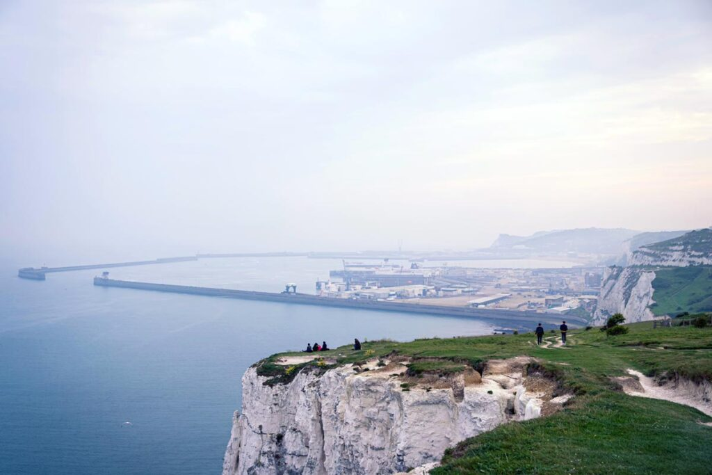 The White Cliffs of Dover rise above the Sea, long considered the best weekend trip from London