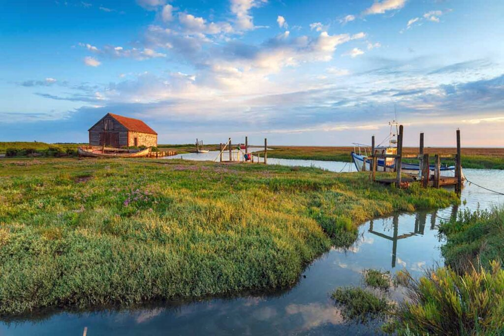 A scenic long distance view in Norfolk invites Londoners for a short visit