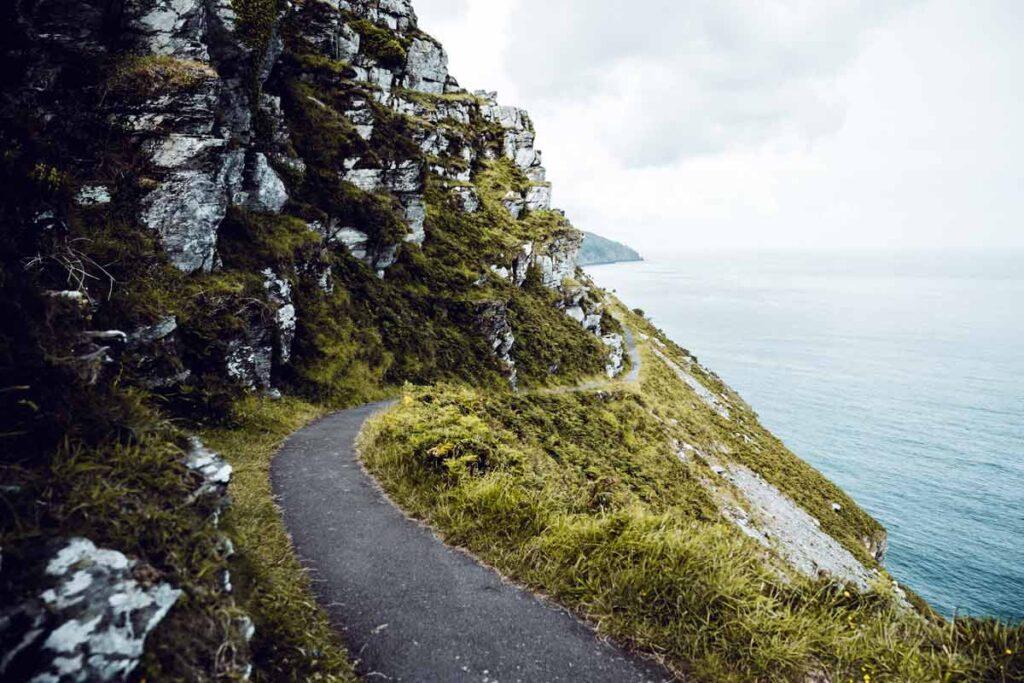Der Westküste von Großbritannien in der Nähe von Cornwall