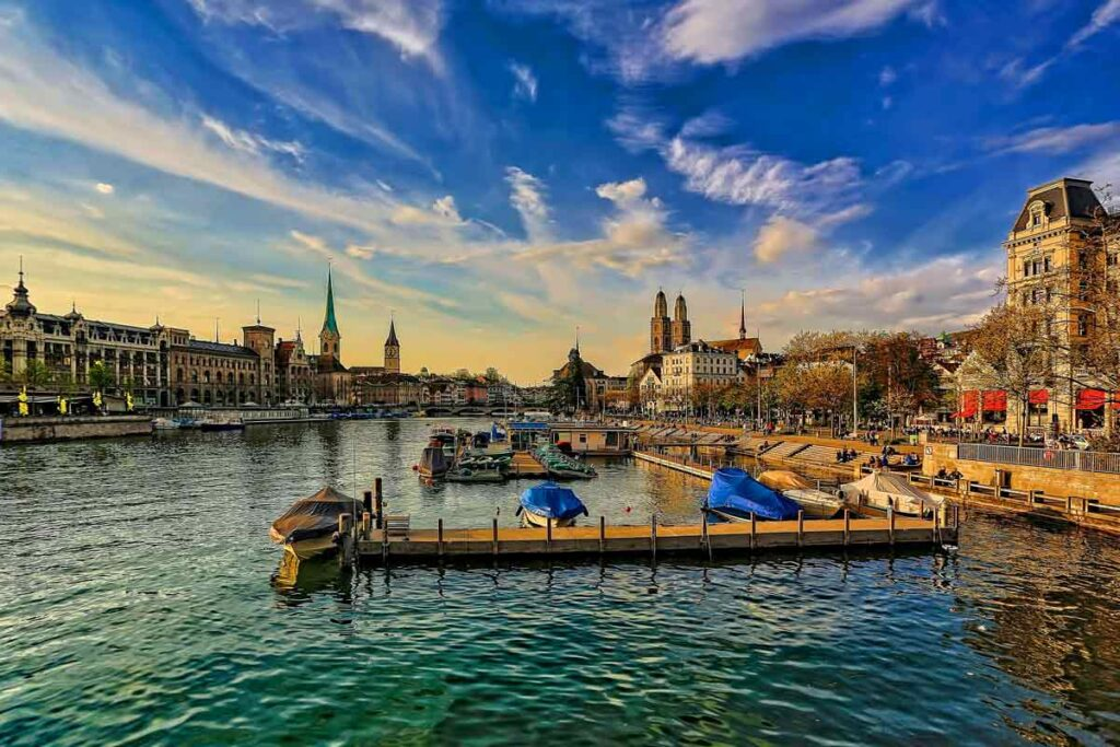 Among Europe's Instagrammable locations is the waterside city of Zurick