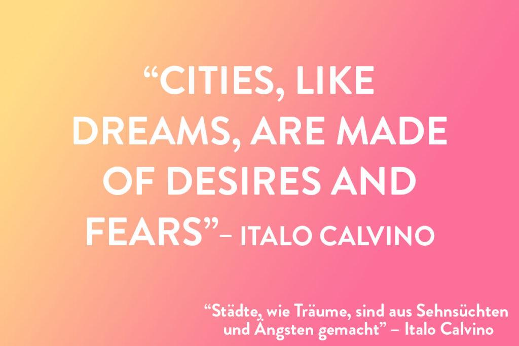Reisespruch für Instagram von Italo Calvino