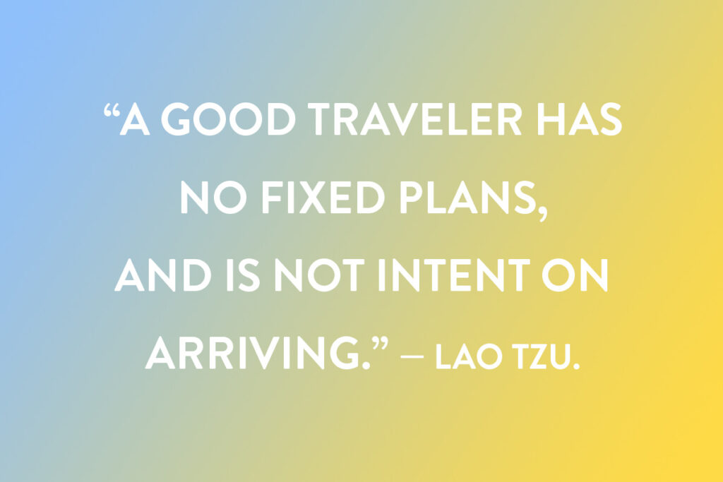 A motivational caption idea for Instagram about good travelers