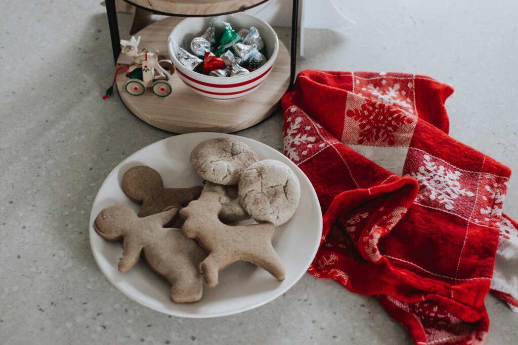 Christmas cookies in a reindeer shape