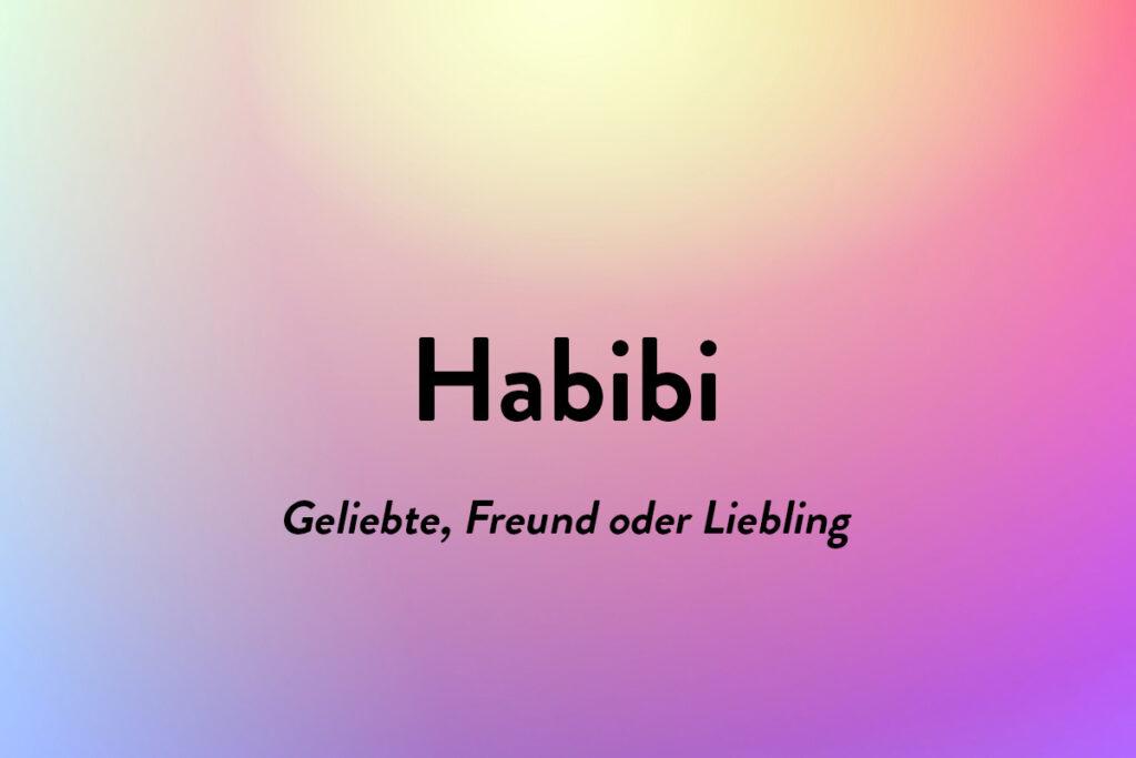 Habibi ist ein schönen Wort aus eine andere Sprache, die Geliebte bedeutet