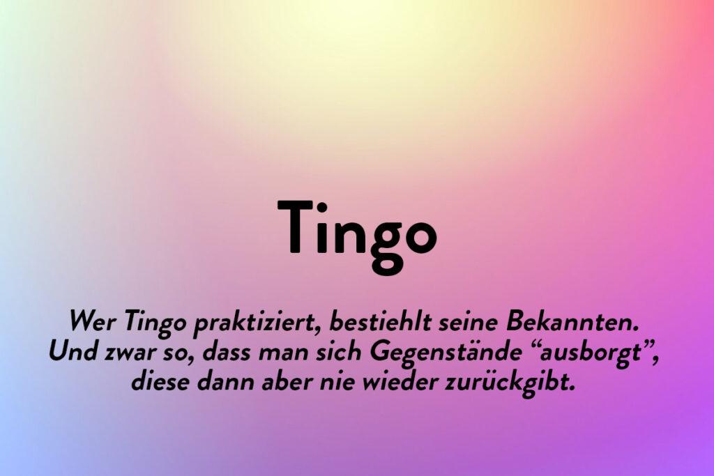 Schönen Wörter aus anderen Sprachen - Tingo